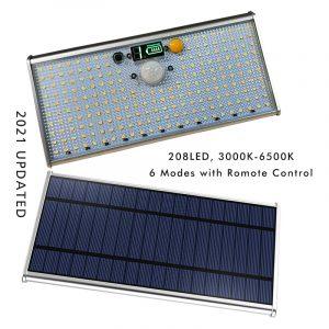 208 LED Solar Security Light Outdoor Solar Powered Motion Sensor Lamp