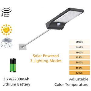 Premium Solar Motion Wall Light 48 LED Beads Motion Sensor Solar Light