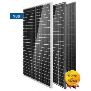 Half cut cell solar panel, 9BB 450W PV Module
