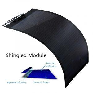Shingled Solar Module, Semi Flexible Solar Panels